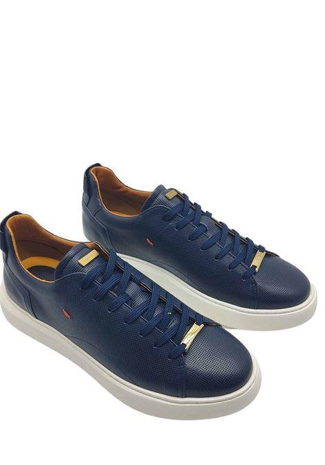 Calzature Sneakers Uomo Stringata in Pelle Blu e Fondo Alto in Gomma Ambitious | Sneakers | 8231002