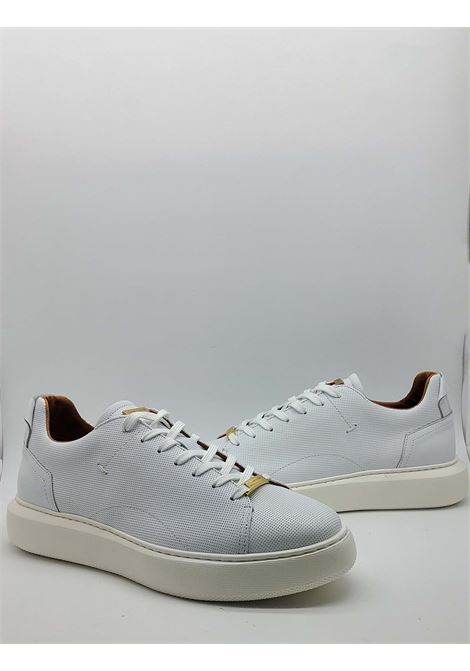 Shoes Sneakers Men Lace-up in White Leather and High Rubber Bottom Ambitious | Sneakers | 8231100