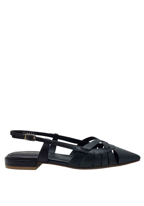 Women's Shoes Décolleté Chanel in Black Leather with Strap and Low Heel Bruno Premi | Sandals | BB0402X001