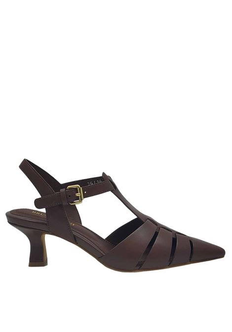 Women's Shoes Chanel Décolleté in Dark Brown Leather with Heel and Strap Bruno Premi | Sandals | BB0503X013