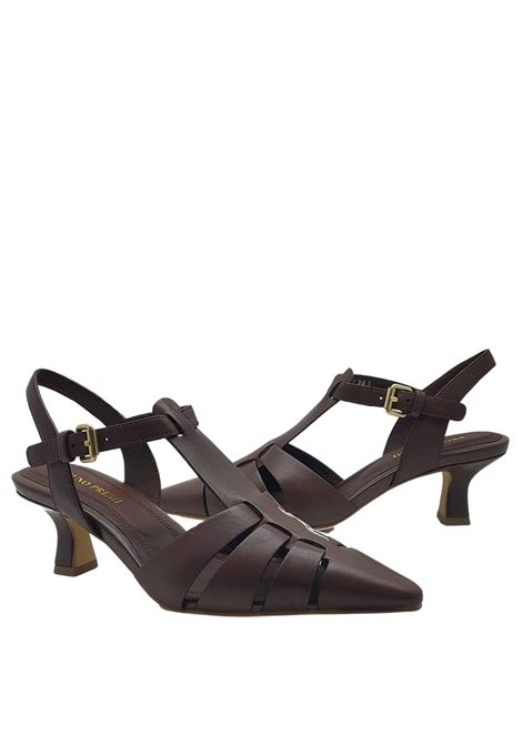 Women's Shoes Chanel Décolleté in Dark Brown Leather with Heel and Strap Bruno Premi   Sandals   BB0503X013