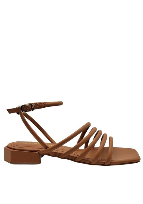 Women's Shoes Leather Sandals with Low Heel Straps and Square Toe Bruno Premi | Sandals | BB0802X104