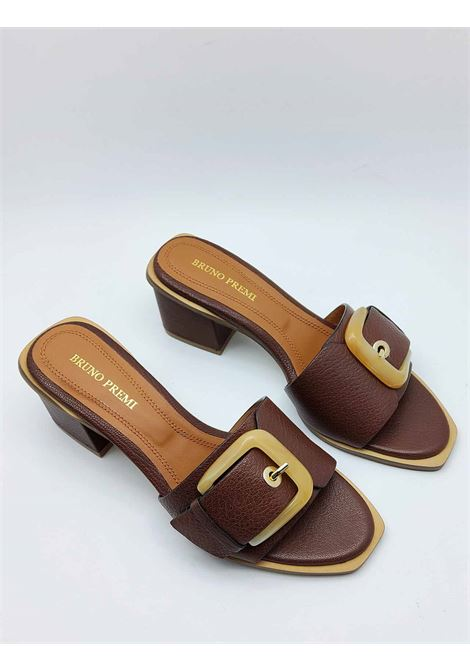 Women's Shoes Brown Leather Barefoot Sandals With Bone Color Side Buckle Bruno Premi | Sandals | BB1201X013