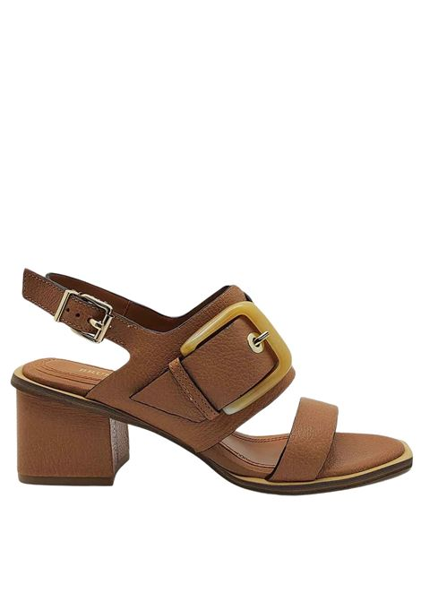 Women's Shoes Leather Sandals With Strap and Side Buckle in Bone Color Bruno Premi | Sandals | BB1202X200