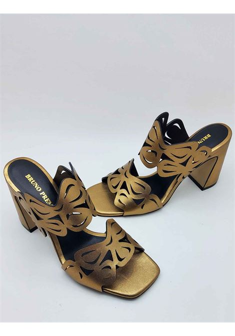 Women's Shoes Barefoot Sandals in Gold Leather with Lasered Upper Bruno Premi | Sandals | BB1503X602
