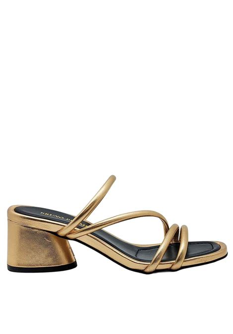 Women's Shoes Sandals in Powder Laminated Leather with Straps and Heel to Match Bruno Premi | Sandals | BB1602X301