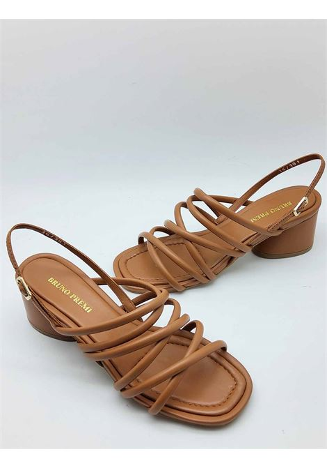 Women's Shoes Leather Sandals with Tubular Straps and Back Strap Bruno Premi | Sandals | BB1604X104