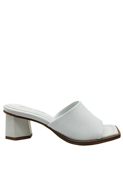 Women's Shoes Barefoot in White Leather with Matching Heel and Square Toe Bruno Premi | Sandals | BB1801X100
