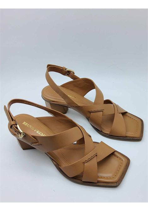 Women's Shoes Sandals in Leather Cross Leather with Ankle Strap and Square Toe Bruno Premi | Sandals | BB1804X200
