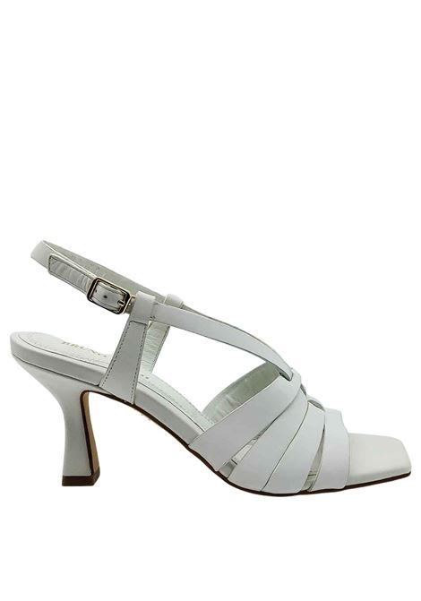 Women's Shoes White Leather Sandals with Square Toe and Strap Bruno Premi | Sandals | BB2004X100