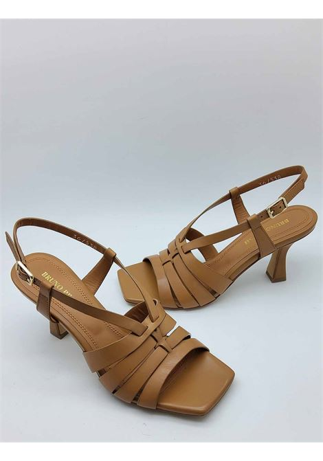 Women's Shoes Sandals in Natural Leather with Square Toe and Strap Bruno Premi | Sandals | BB2004X200