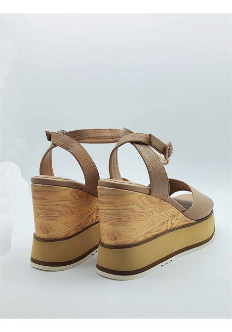 Women's Shoes Sandals with Ankle Strap in Nude Leather and High Wedge Bruno Premi |  | BB2701X014