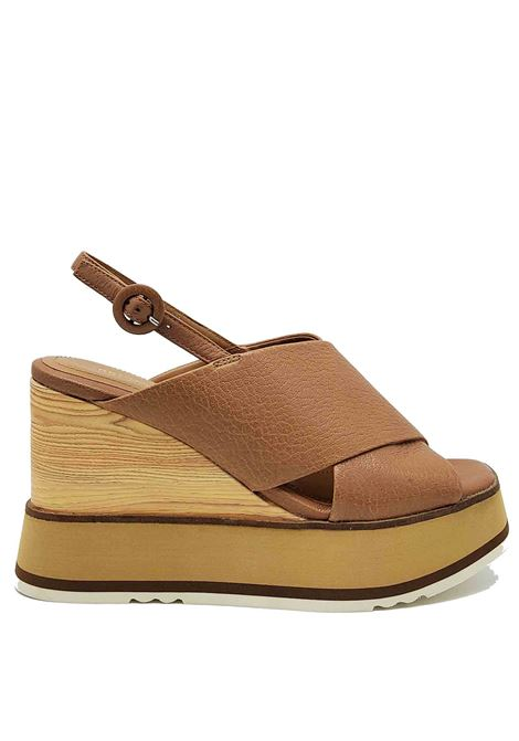 Women's Shoes Leather Cross Leather Sandals with Back Strap and High Wedge Bruno Premi | Wedge Sandals | BB2702X014