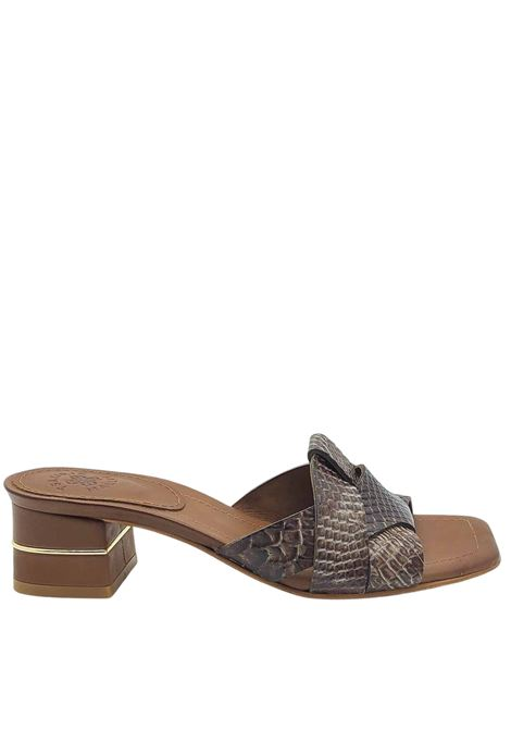 Women's Shoes Barefoot Sandals Slipper in Python Printed Leather with Jewel heel Exe | Sandals | 727013
