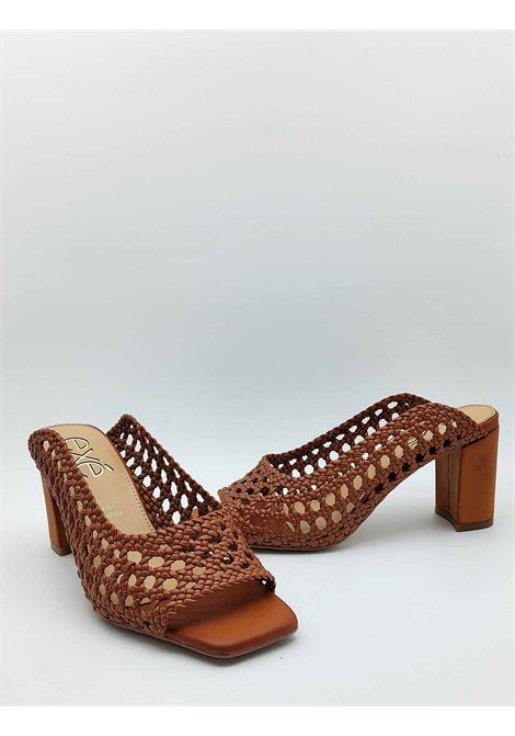 Women's Shoes Sandals in Leather Crochet Leather with High Heel Exe | Sandals | JIULIA400014