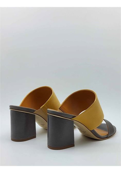 Women's Shoes Sandals in Taupe and Mustard Leather with Leather Sole Fabio Rusconi | Sandals | FANNY1318023