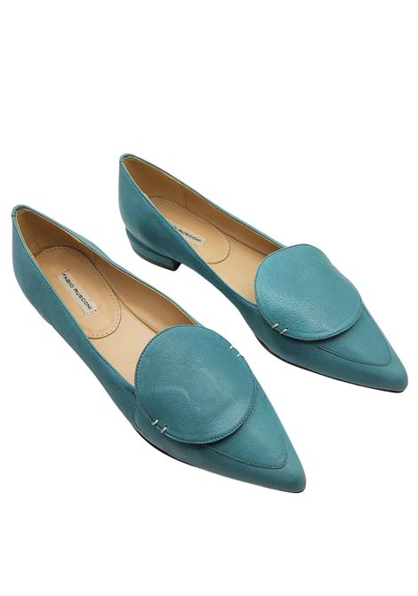 Women's Shoes Low Loafers in Dusty Leather with Matching Leather Accessory Fabio Rusconi | Mocassins | S5738003
