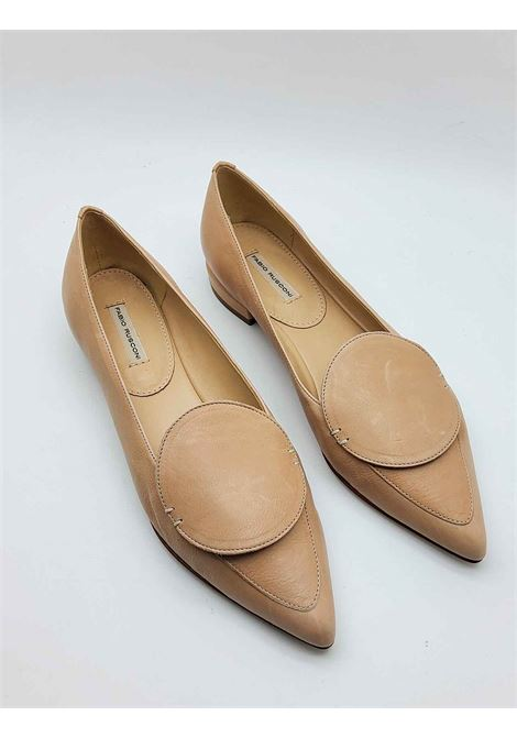 Women's Shoes Low Moccasins in Nude Leather with Matching Leather Accessory Fabio Rusconi | Mocassins | S5738300