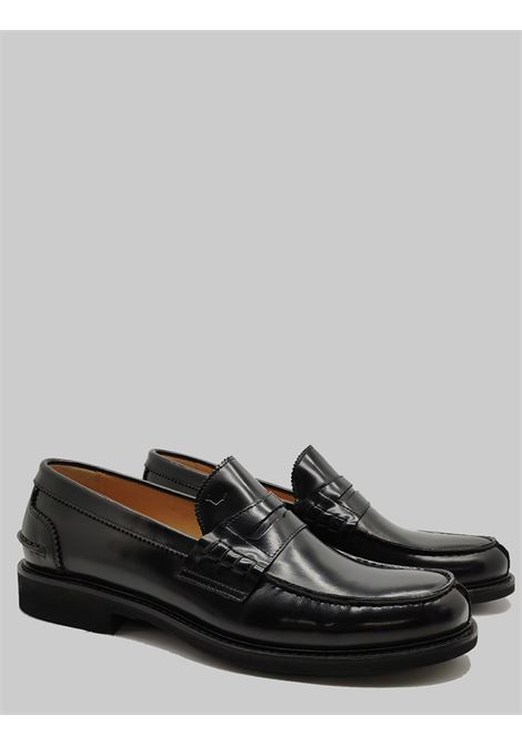 Men's Shoes Loafers in Black Leather with Classic Bandage and Ultra Light Rubber Bottom Florsheim | Mocassins | 51033-57NERO