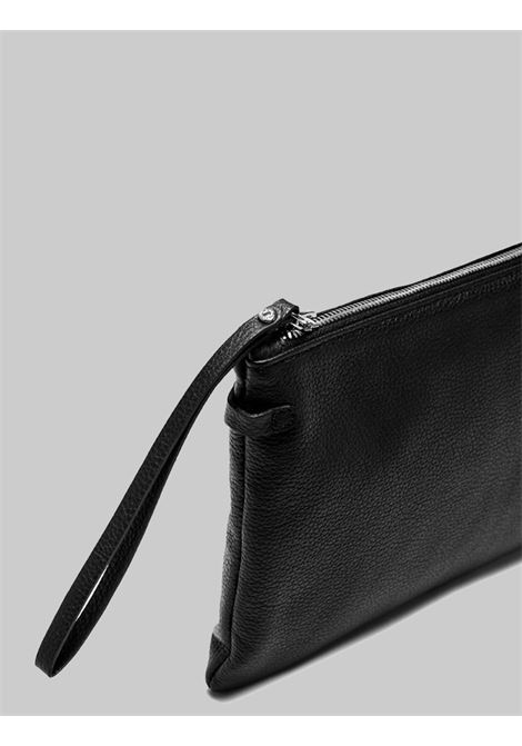 Woman Bag Clutch Maxi Hermy Bag In Black Leather Gianni Chiarini | Bags and backpacks | BS3695001