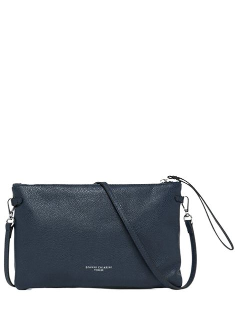 Large Women's Clutch Bag In Navy Blue Leather With Leather Handle And Adjustable Shoulder Strap Gianni Chiarini | Bags and backpacks | BS36950208