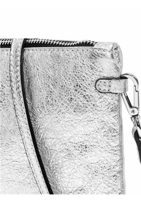Borsa Donna Pochette Maxi Hermy In Pelle Argento Con Manico E Tracolla Regolabile E Removibile Gianni Chiarini | Borse e zaini | BS3695359