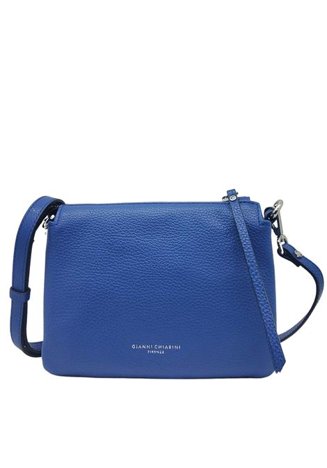 Small Three Shoulder Bag In Blue Leather With Removable And Adjustable Shoulder Strap Gianni Chiarini | Bags and backpacks | BS43626241