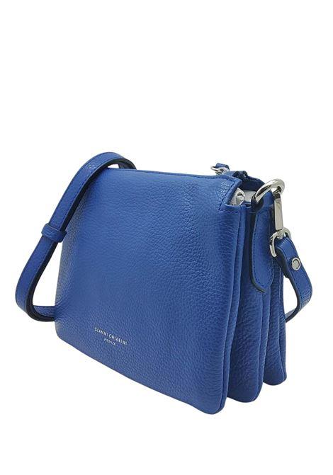 Borsa Donna Mini Three A Tracolla In Pelle Blu Con Tracolla Removibile E Regolabile Gianni Chiarini   Borse e zaini   BS43626241