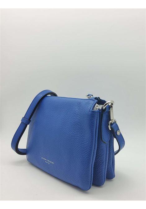 Borsa Donna Mini Three A Tracolla In Pelle Blu Con Tracolla Removibile E Regolabile Gianni Chiarini | Borse e zaini | BS43626241