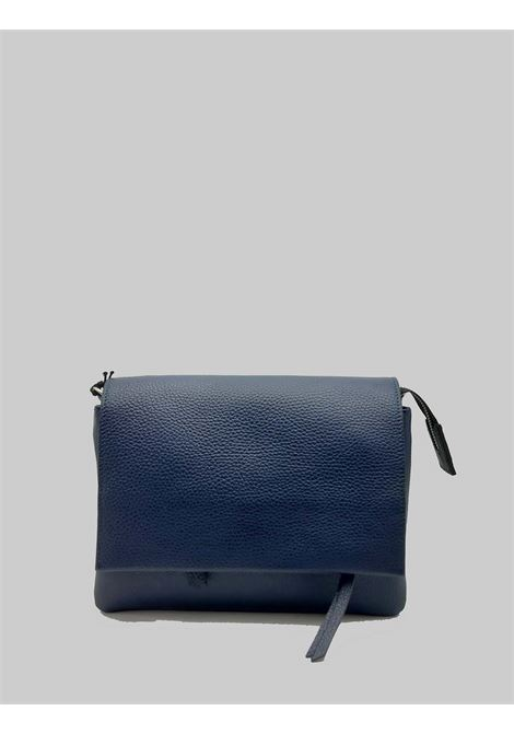 Three Shoulder Bag In Blue Leather With Long Flap And Removable Shoulder Strap Gianni Chiarini | Bags and backpacks | BS43640208