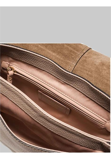 Woman Shoulder Bag Helena Round in Beige Leather With Matching Handle and Adjustable and Removable Shoulder Strap Gianni Chiarini | Bags and backpacks | BS603711706