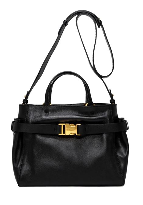 Stella Medium Woman Bag In Black Leather With Leather Shoulder Strap And Double Handle Gianni Chiarini | Bags and backpacks | BS7155001