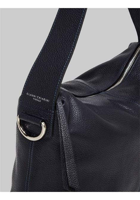 Woman Shoulder Bag Giorgia In Blue Leather With Handle And Removable And Adjustable Fabric Shoulder Strap Gianni Chiarini | Bags and backpacks | BS72490208