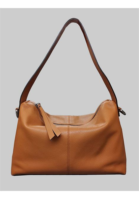 Woman Shoulder Bag Giorgia In Tan Leather With Handle And Removable And Adjustable Fabric Shoulder Strap Gianni Chiarini | Bags and backpacks | BS724911041