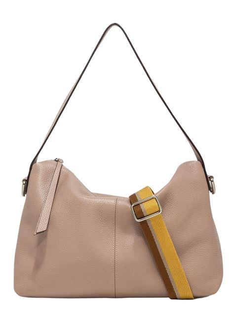 Woman Shoulder Bag Giorgia In Beige Leather With Handle And Removable And Adjustable Fabric Shoulder Strap Gianni Chiarini | Bags and backpacks | BS724911706
