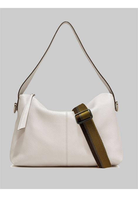 Woman Shoulder Bag Giorgia In Cream Leather With Handle And Removable And Adjustable Fabric Shoulder Strap Gianni Chiarini | Bags and backpacks | BS72493890