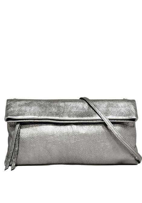 Cherry Small Women's Clutch Bag In Silver Leather With Tone Removable Shoulder Strap Gianni Chiarini | Bags and backpacks | BS7374359
