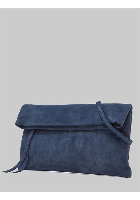 Cherry Women's Clutch Bag In Blue Suede With Tone Removable Shoulder Strap Gianni Chiarini | Bags and backpacks | BS73751533