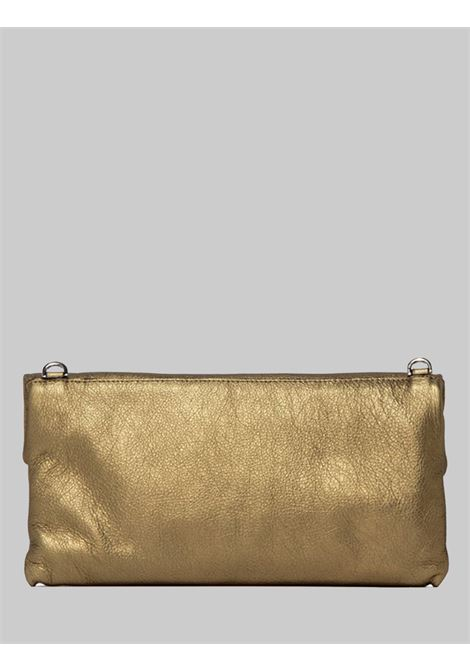 Cherry women's clutch bag in champagne laminated leather with removable shoulder strap in tone Gianni Chiarini | Bags and backpacks | BS7375448
