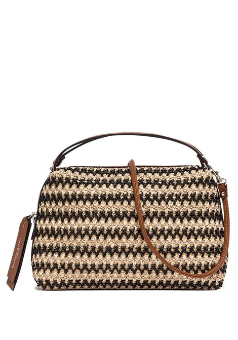 Alifa Women's Handbag In Natural And Black Woven Straw With Leather Inserts And Removable And Adjustable Shoulder Strap Gianni Chiarini | Bags and backpacks | BS825811768