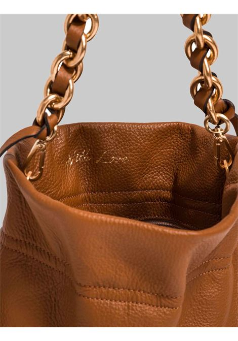 Small Memory Woman Shoulder Bag In Braided Leather With Gold Chain Shoulder Strap Gianni Chiarini | Bags and backpacks | BS8381206