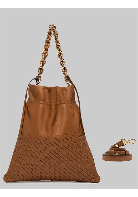 Memory Woman Shoulder Bag In Braided Leather With Gold Chain Shoulder Strap Gianni Chiarini | Bags and backpacks | BS8382206