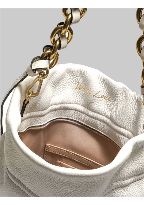 Women's Memory Shoulder Bag In Cream Braided Leather With Gold Chain Shoulder Strap Gianni Chiarini | Bags and backpacks | BS83823890