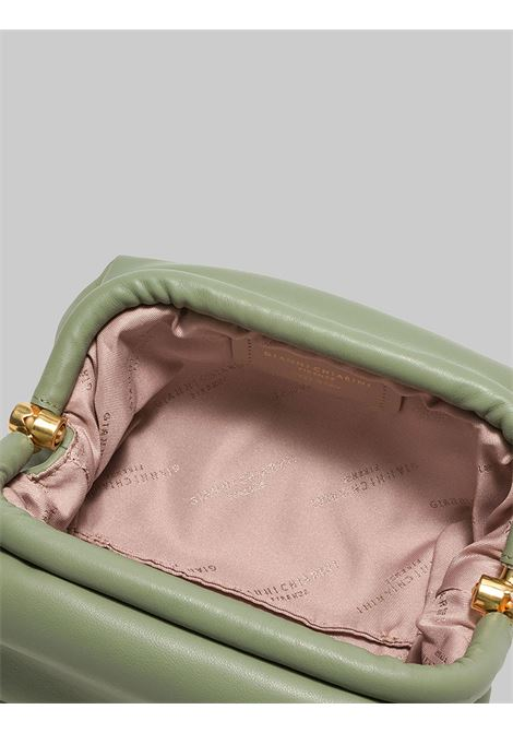Small Colette Woman Bag In Green Leather With Gold Chain And Removable And Adjustable Shoulder Strap Gianni Chiarini | Bags and backpacks | BS840411709