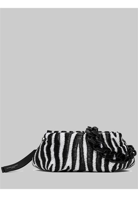 Borsa Donna Mini Colette In Tessuto E Pelle Animalier Zebrato Bianco E Nero Con Catena E Tracolla Removibile E Regolabile Gianni Chiarini | Borse e zaini | BS840411770
