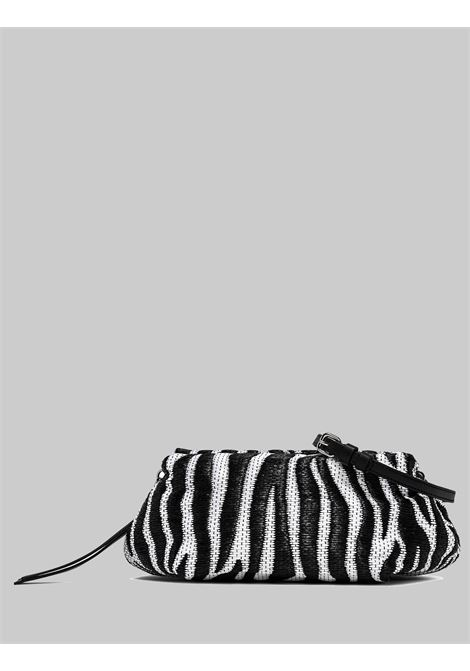 Small Colette Woman Bag In Black And White Animal Zebra Fabric And Leather With Chain And Removable And Adjustable Shoulder Strap Gianni Chiarini | Bags and backpacks | BS840411770