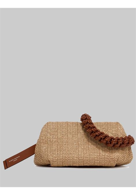 Colette Woman Bag Natural Rope And Leather With Leather Chain And Removable Shoulder Strap Gianni Chiarini | Bags and backpacks | BS84052515