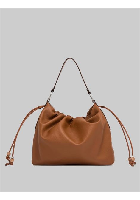 Shoulder Bags Woman Maxi Peonia in Tan Leather with Fixed Handles in Tan Leather Gianni Chiarini | Bags and backpacks | BS8421206