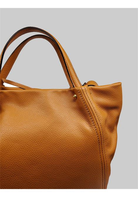 Toulip Woman Shoulder Bag In Tan Leather With Double Handle And Removable And Adjustable Shoulder Strap Gianni Chiarini | Bags and backpacks | BS846511041