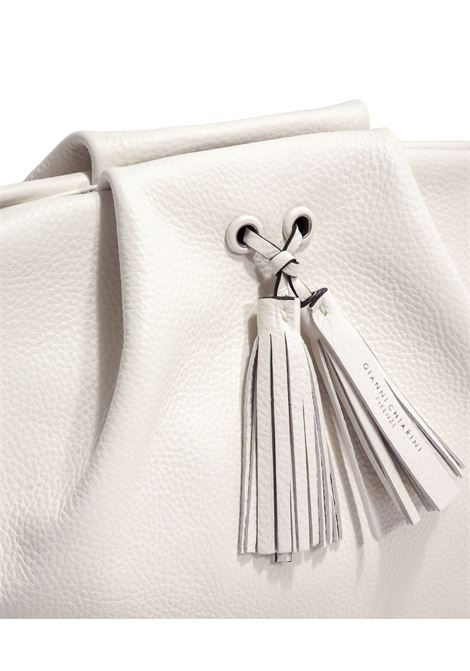 Flora Large Shoulder Bag In Soft Cream Leather With Shoulder Strap Gianni Chiarini | Bags and backpacks | BS84763892